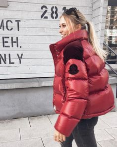 Winter Jackets, Winter Parka, Puffy Jacket, Reasons To Smile, Down Parka, Moncler, Winter Outfits, Jackets For Women, Womens Fashion