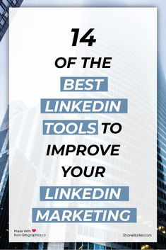 LinkedIn is one of the top most business networks. It& a great platfrom for online marketers to generate leads. Discover 14 of the best LinkedIn tools now. Multi Level Marketing, Social Media Marketing, Digital Marketing, Social Media Updates, Social Media Tips, Linkedin Advertising, Direct Sales Tips, Free Tips, Business Networking