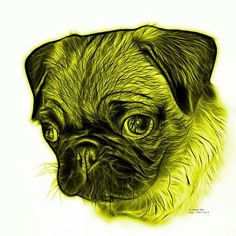 Pug | http://rateitart.comBeautiful yellow pug art by artist James Ahn. Pug - 9567 FS W    © Rateitart.com // All Rights Reserved.   #Yellow #Pug #Dog #DogArt #Animal #Animals #AnimalLover #Cute #Cuteness #CutenessOverload #CuteAnimals #AnimalArt #PopArt #Pets #Wildlife #Art #Artwork #Artist #Arte #petstagram #JamesAhn #Rateitart
