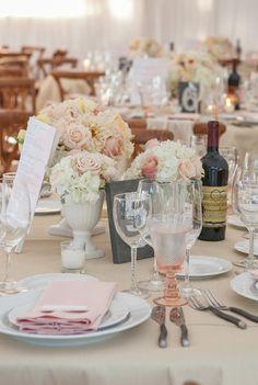 A Peachy Keen California Wedding from Kevin Chin Photography - wedding centerpiece idea
