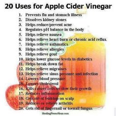 ~20 uses for Apple Cider Vinegar~