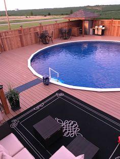Above Ground Pool Decks, Above Ground Swimming Pools, In Ground Pools, Backyard Pool Designs, Pool Landscaping, Backyard Patio, Swimming Pool Decks, Swiming Pool, Dream Pools