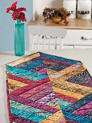 Quilt - Quick & Easy Patterns - Table Toppers - Reversible Strippy Table Runner