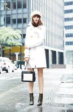 Need to try! White Military Coat
