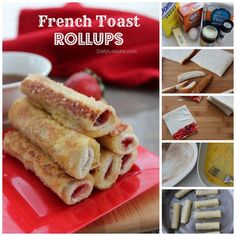 how to make French Toast Rollups