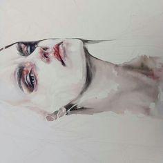 Watercolor by agnes-cecile Watercolor Portraits, Watercolor Paintings, Watercolour, Agnes Cecile, Drawing Eyes, Woman Drawing, Arte Pop, Anaconda, Portrait Art
