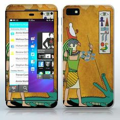 Hunting Horus Egypt papyrus image with Horus and an alligator phone skin sticker for Cell Phones / Blackberry Z10   $7.95