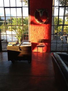 Joe De Villiers Designs ~ Typical Red Wall Accent @ Shisa Guest Farm ~ Tulbagh, western cape RSA