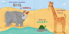 Opposites for You and Me - B&H Publishing - Illustrated by Holli Conger Concept Board, You And I, Art For Kids, Dinosaur Stuffed Animal, Creatures, Learning, Illustration, Books, Animals