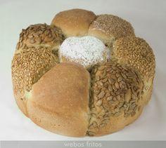 Corona de semillas de pan   webos fritos