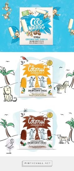 Coconut Collaborative on Packaging of the World - Creative Package Design Gallery. - a grouped images picture - Pin Them All Dairy Packaging, Milk Packaging, Cool Packaging, Beverage Packaging, Brand Packaging, Packaging Design, Branding Design, Food Branding, Art Graphique