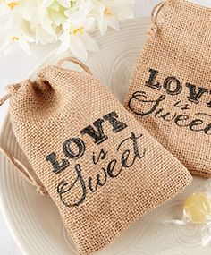 Favor bags for your guest at your wedding