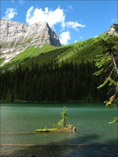 Hike to Rawson Lake - a beautiful green lake sitting below the sheer cliffs of Mt. Sarrail in Kananaskis Country.