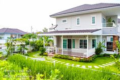 Front Porch Columns, 2 Storey House, Garden Design, House Design, Farm Gardens, Apartment Design, House Rooms, Home Renovation, House Plans