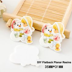 50pcs/lot Cartoon Christmas Baby & Snowman Flatback Resins Kawaii Planar Resin Crafts for DIY Home Decoration Accessories