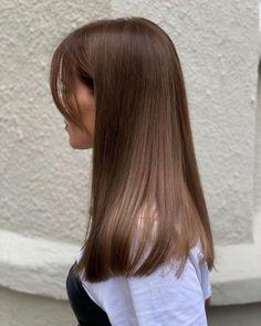 Silky Straight Chocolate Brown Hair