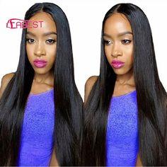 Hair Weaving 8  Grade 7A Brazilian Virgin Hair Straight 3 Bundles Deal Unprocessed Hair Bundles Virgin Brazilian Straight Hair Extension Weave *** AliExpress Affiliate's Pin. Click the VISIT button to view the details