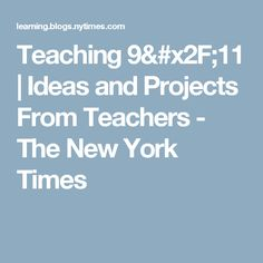 Teaching 9/11 | Ideas and Projects From Teachers - The New York Times