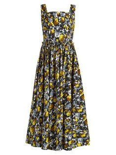 Square-neck tulip-print dress  | Marni | MATCHESFASHION.COM