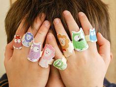 Anillos imprimibles de animales en Manualidades infantiles para bebés, niños y niñas