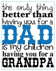 DIY printable Fathers Day sign