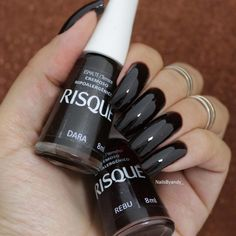 easy diy summer nails Step By Step Dope Nails, 3d Nails, Acrylic Nails, Uñas Fashion, Manicure Y Pedicure, Nagel Gel, Black Nails, Black Polish, Perfect Nails