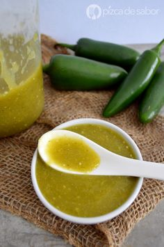 Salsa verde casera www.pizcadesabor.com