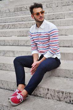 Woven stripe #flowear #fashion ✻ www.flowear.org