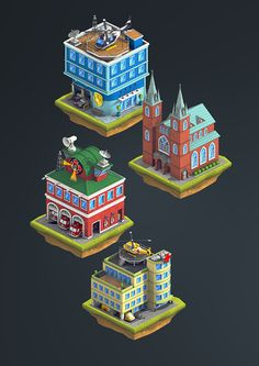 "Isometric game designs for android game ""City Island 2"".Game can be downloaded @GooglePlay: https://play.google.com/store/apps/details?id=com.sparklingsociety.cityisland2My role in this project was to lead the art direction starting from creating the c…"