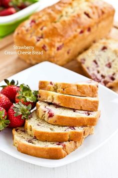 This lovely Strawberry Cream Cheese Bread has a super moist and creamy texture. A must-bake when strawberries are in season!   RotiNRice.com