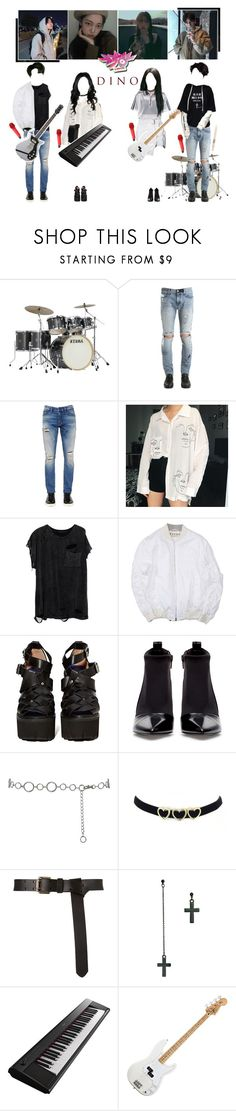 """MUSIC BANK DEBUT STAGE - DINO ' FEELS ALRIGHT ' & ' YOU N I '"" by dino-official ❤ liked on Polyvore featuring RtA, GET LOST, Calvin Klein Jeans, Jeffrey Campbell, Zara, M&Co, ASOS, Yamaha, Firth and Sennheiser"