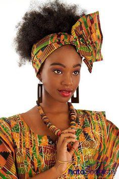 Ghana - Kente head scarf/band & outfit ♥♡♥