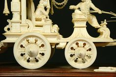 Ex. rare Ivory Kuruksherta Chariot, India, C.1800 Royal Chair, Dhoti Saree, Brass Plaques, Phoenix Bird, February 1, Diy Crafts For Gifts, Ganesh, View Image, Krishna