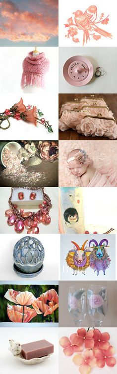 Peachy Keen by Laurie Andreoni on Etsy--Pinned with TreasuryPin.com