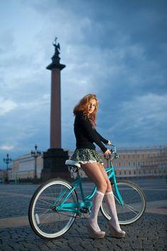 Girl with a bike... Things I like. : Photo