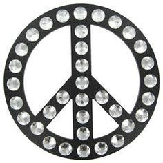 Peace Sign Wall Decoration with Jewels  sku# 625590