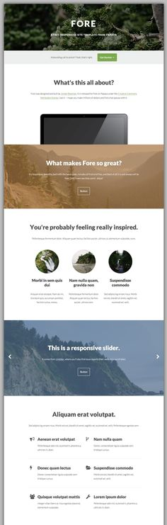 Fore - Free HTML Responsive Template Free Html Website Templates, Template Site, Website Layout, Web Layout, Responsive Template, Best Web Design, Ui Web, Screen Design, Interface Design