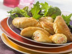 Découvrez la recette Feuilletés saumon boursin sur cuisineactuelle.fr.