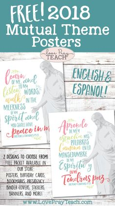 Free 2018 Mutual Theme Printables in English and Spanish