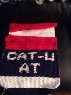 Cat U knitted scarf