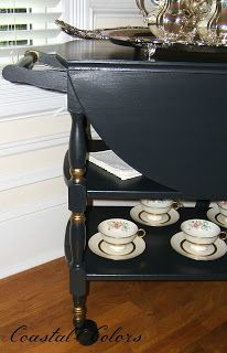 coastal-colors: Vintage Tea Cart Update
