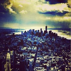 Bird's eye view of #NYC. #Manhattan #WideEyed