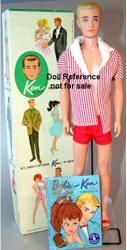 Ken ~ The first Ken dolls had hair that would rub off -    :(