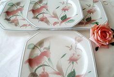 Mikasa Silk Flowers Vintage China Porcelain Dinner by alltravelerstore