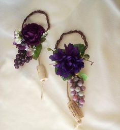 Wedding Centerpiece Grape Purple Wine Bottle Toppers Vineyard Bridal shower Centrpieces Favors
