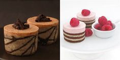 How to make a joconde cake with decorative tuile paste Pumpkin Caramel Mousse and Raspberry Mousse Cakes