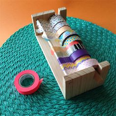 MT Masking Tape Washi Dispenser. Handmade. Woodwork. Contemporary Design.