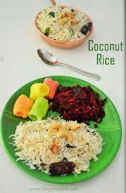 Happy's Cook: Coconut Rice Recipe/Thengai Sadam  Lunch Box Ideas/ Quick Lunch Ideas