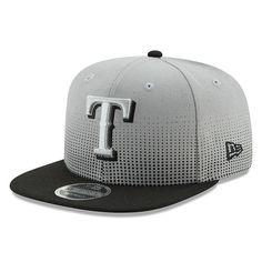 Texas Rangers New Era Flow Team 9FIFTY Adjustable Snapback Hat - Gray Black 5c1b35a79a9e
