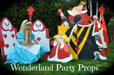 Wonderland Party Props http://www.facebook.com/pages/Wonderland-Party-Props/159537750764498